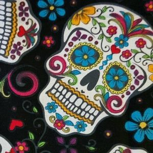 handmade Accessories - Two Sugar Skull Headbands red and black NWT